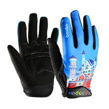 Boodun 4-10 Years Old Kids Full Finger Cycling Gloves Skate Sport Mtb Riding BMX Mountain Bike Bicycle for Boys and Girls