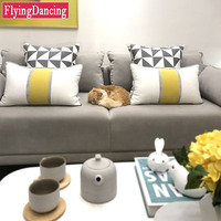 1PC Fashion Nordic Style Cushion With Inner Short Down Throw Pillow For Home Bedroom Sofa Waist