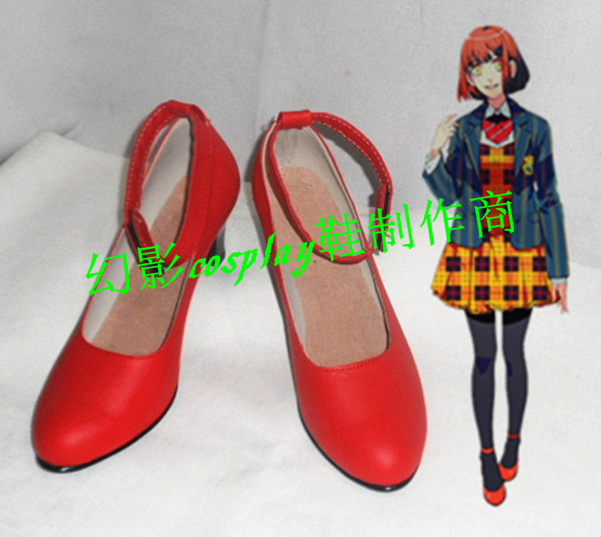 Uta NO Prince Sama Nanami Haruka <font><b>Red</b></font> Halloween <font><b>Lolita</b></font> Party Cosplay <font><b>Shoes</b></font> H016 image