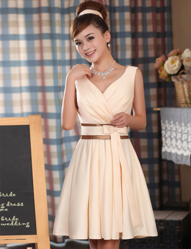 Wedding Sexy Cocktail Dresses online get cheap sexy cocktail dresses aliexpress com alibaba group dons bridal a line coctail gowns pretty cute women 2016 knee length satin dress for girl