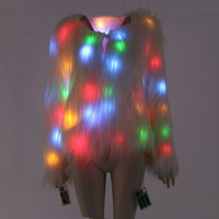 Autumn And Winter LED Luminous Show Faux Fur Coat Star Nightclub Christmas Fake Fur Plus Size