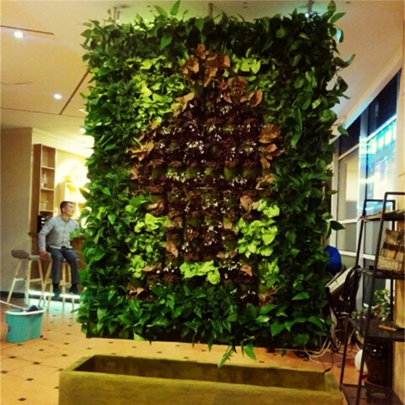 18/72 Pockets Black Green Wall Hanging Plant Pot Felt Vertical Flower Planting Bag Graden Grow Bags Pots Planters Decorations