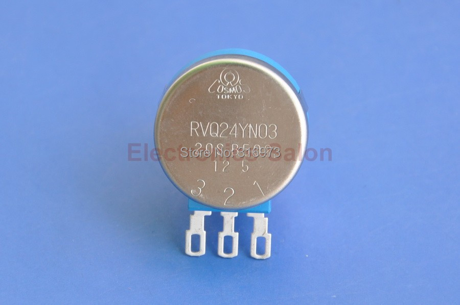 RVQ24YN03 20S B502 Rotary Potentiometer, 5K OHM Long Life Panel Pot, COSMOS/TOCOS.