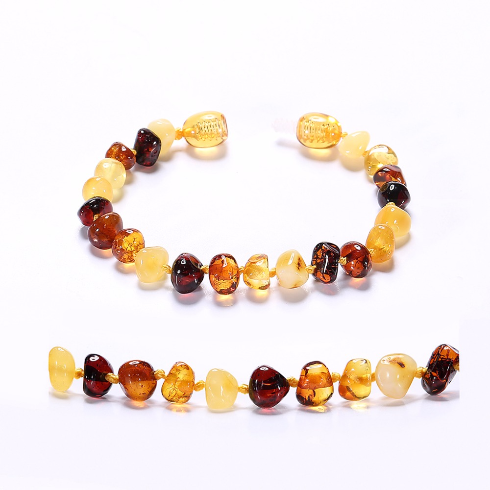 Baltic Amber Bracelet for Adult - Simple Package - Lab-Tested Authentic - 2 Sizes - 10 Colors
