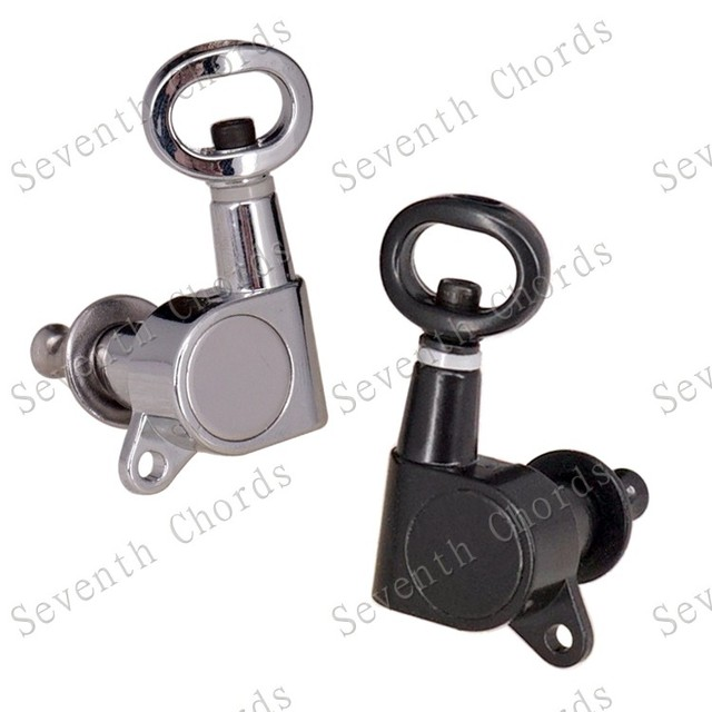 Silver or black Hollow handle full enclosed guitar string buttons-in ...