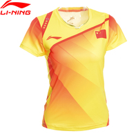 Li Ning Women Badminton Shirts Breathable Light T Shirts Quick Dry Competition Top Comfort LiNing Sports