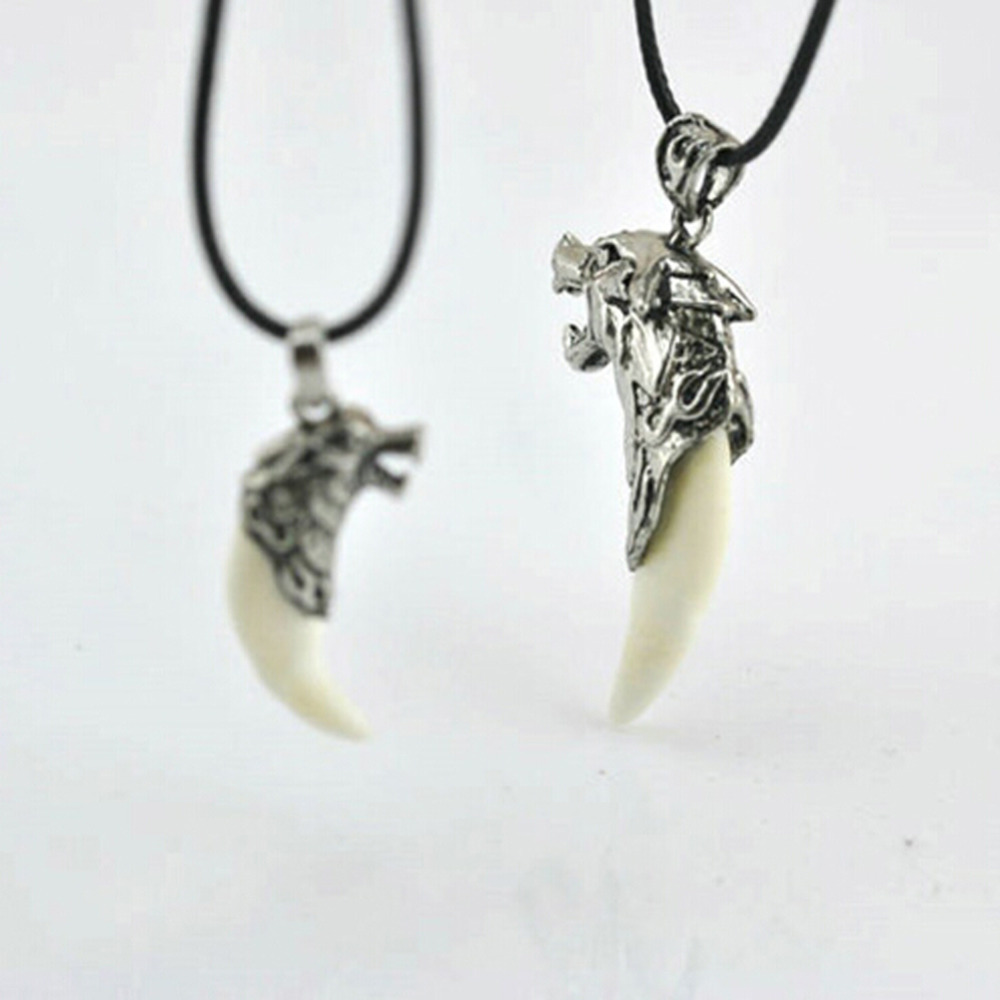 2016 New Fashion Charming Jewelry Evil Spirits Wolf Heads Shaped Pendant Necklace With Alloy Clavicle Chain NL-0795