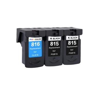 YLC 3pcs PG-815 CL-815 PG815 CL816 Compatible Ink Cartridges For Canon Pixma MX 358 368 418 428 IP2780 MP236 MP259 printer