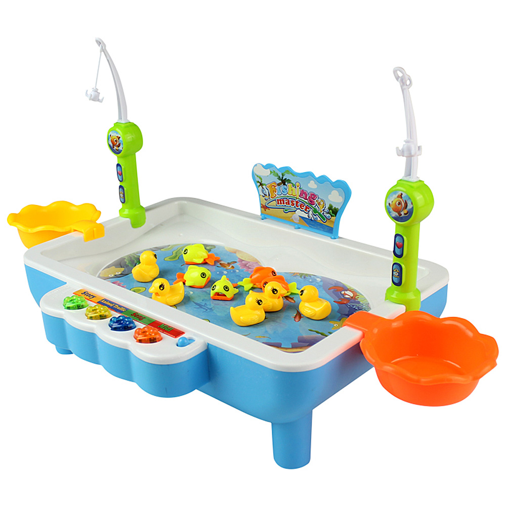 Toys & Hobbies Kawo Kids Fishing Toy Electric Magnetic Fishing Toy Musical Plastic Fish Board Games Educational Toy Kid Children Gift Fixing Prices According To Quality Of Products