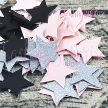 Lasting Surprise Star Round Glitter Paper Confetti Table Decoration Mariage baby shower Favors Colourful Wedding Birthday Party