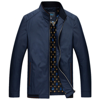 Hot Sale Men Jacket Male Casual Slim Fit Mandarin Collar Solid Jackets M 4XL New 2017