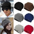 Fashion New Unisex Women Men Winter  Hat Slouch Baggy Hip Hop Knit Crochet Cap Beanie 6 Color