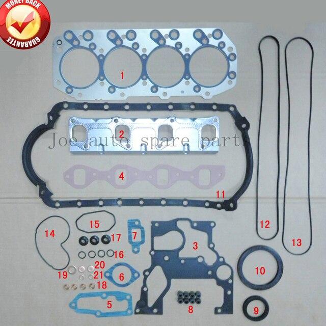US $37 54 23% OFF|4JB1 4JB1T Engine complete Full Gasket Set kit for ISUZU  PickUp ELF 250 NKR NHR Truck Z 5 87810 457 2, Z 5 87812 706 1 on