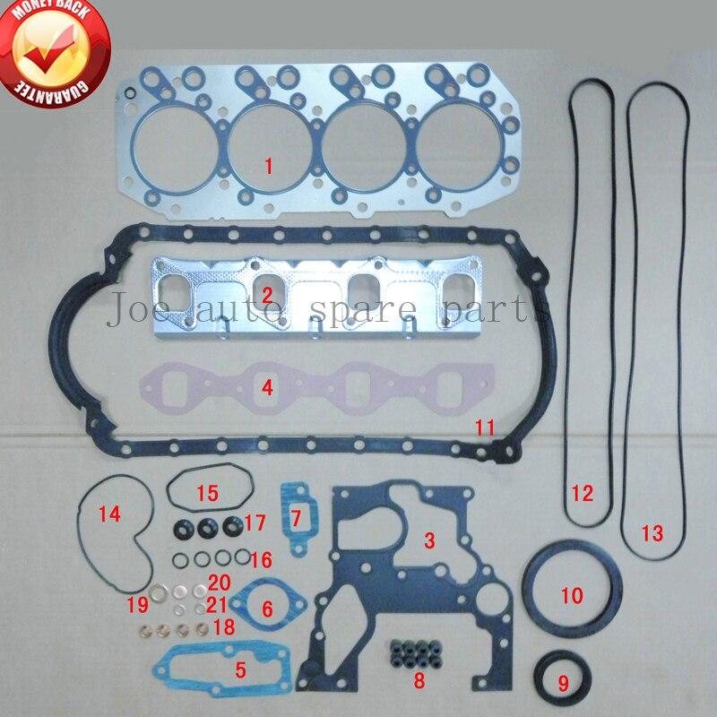 4JB1 4JB1T moteur complet kit de jeu de joints pour ISUZU pick ELF 250 NKR NHR camion Z-5-87810-457-2, Z-5-87812-706-14JB1 4JB1T moteur complet kit de jeu de joints pour ISUZU pick ELF 250 NKR NHR camion Z-5-87810-457-2, Z-5-87812-706-1