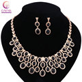 Women 2 colors red black crystal jewelry sets with earrings statement necklace for party wedding boho fashion Trendy necklace