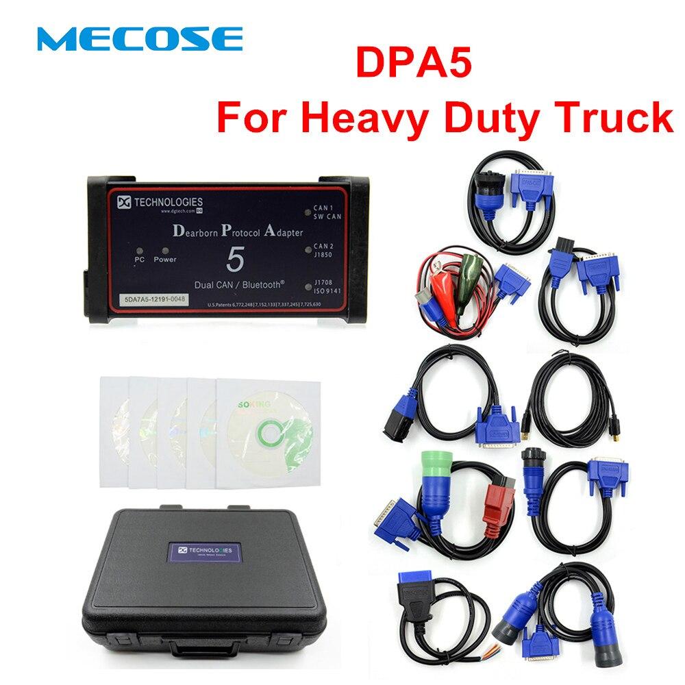 2019 диагностический инструмент Многоязычный DPA 5 Dearborn адаптер по протоколу Поддержка 5 сверхмощный сканер для грузовиков без Bluetooth