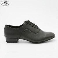 Mężczyźni Standardowy BD 301 Czarny Cała Podeszwa Buty Do Tańca Taniec Towarzyski Buty Krowa Skóra Split Waltz Tango Foxtrot Quickstep Dancesport
