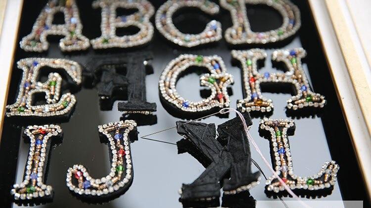 Pegatinas de caracteres de letras en inglés DIY Costum Applique - Artes, artesanía y costura - foto 5