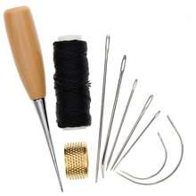 Agulha para costura de couro, acessórios para costura, artesanato, costura, couro, artesanato, ferramentas de reparo, 1 conjunto