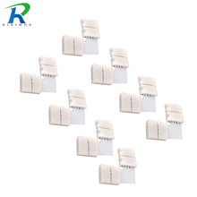 10x clip-on l forma 4pin 5050 led rgb string solderless acoplador conector conveniente adaptador de alta qualidade