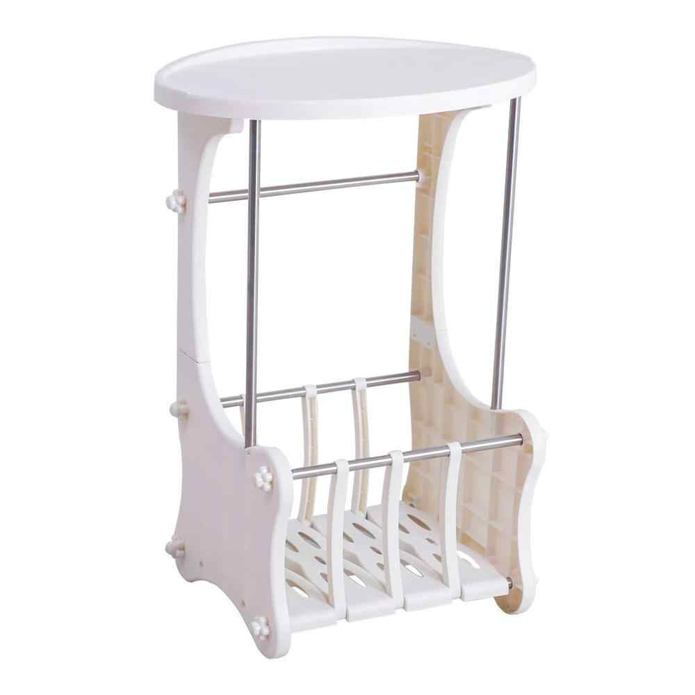 Nightstand table modern bedside cabinet storage cabinet Hollow Out Design Ivory White small table dormitory bedroom  DQ1810-1