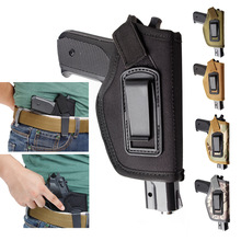 Holster In Waistband IWB Concaled Belt Pistol Holster Fits GLOCK 17 22 23 32 33 43 Ruger LC9 და მსგავსი ზომის პისტოლეტები