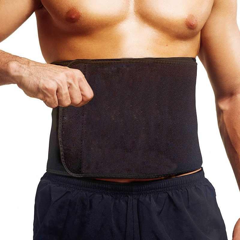 c5632ad34d9 NINGMI Hot Shaper Waist Trainer Men Compression Modeling Belt Neoprene  Sweat Sauna Suit Man Black Slimming