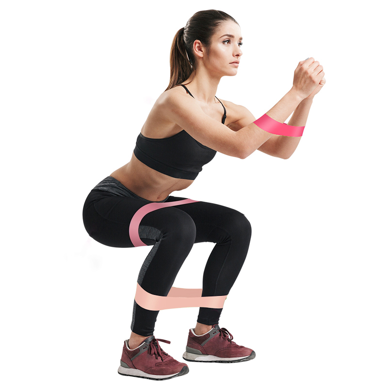 5Pcs/Set Elastic Bands For Fitness Gum Resistance Bands Yoga Workout Sport Elastic Bands Rubber Training Exercise Equipments 2