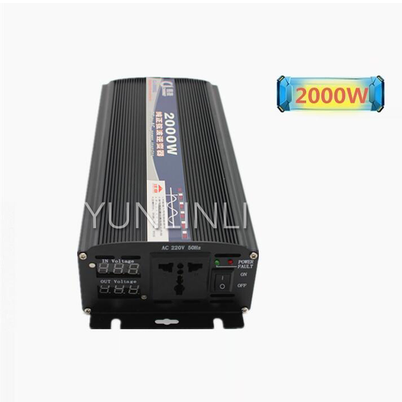 цена Pure Sine Wave Inverter 2000W Car Power Inverter Power Supply 12V 24V 48V 60V DC to 220V AC Transformer CJ-2000W