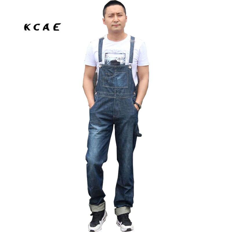 2016 Mens BiB Overalls Vintage Mid Waist Loose Blue Plus Size XS-4XL Jeans Overalls Jumpsuit For Men lole капри lsw1349 lively capris xs blue corn