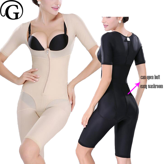 b3304539d34 PRAYGER New Open Butt Women Recovery Full Body Shapers Lift Bras Control  Abdomen Bodysuits Butt Lifter Slimming Thigh Underwear