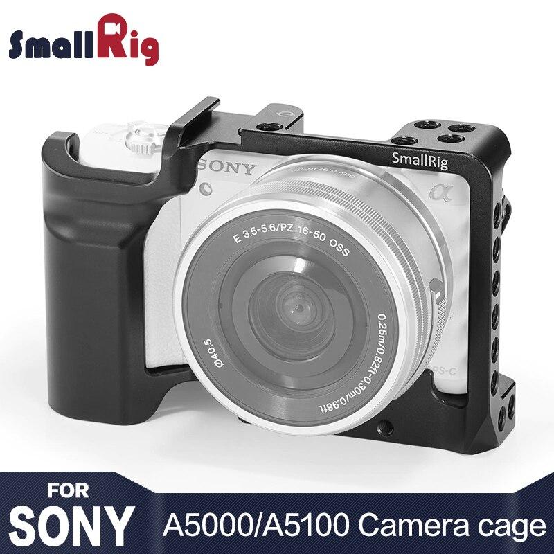 SmallRig Caméra Cage pour SONY A5000/A5100 avec Shoe Mount Fil Trous pour Microphone Moniteur Joindre pour Vlogging 2226