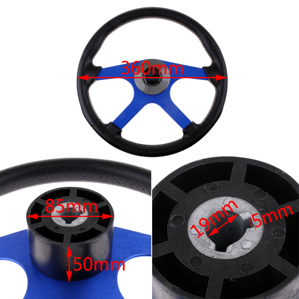 360mm Aluminum Alloy Marine Boat Sport Steering Wheel 4 Spoke 3/4' Shaft for Canoe Kayak Inflatable Boat Replacement Accessories free shipping 128 180mm aluminum alloy metal water steering wheel for rc gasoline boat racing o boat 180mm steering wheel