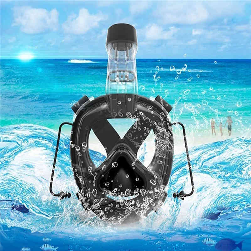 RKD Diving Masks Diving Goggles Full Face Snorkeling Diving Swimming Mask Underwater Scuba Snorkel Mask Set Anti Fog For Adults full face snorkeling mask scuba diving mask anti fog underwater snorkel set anti skid ring swimming accessories aqualung