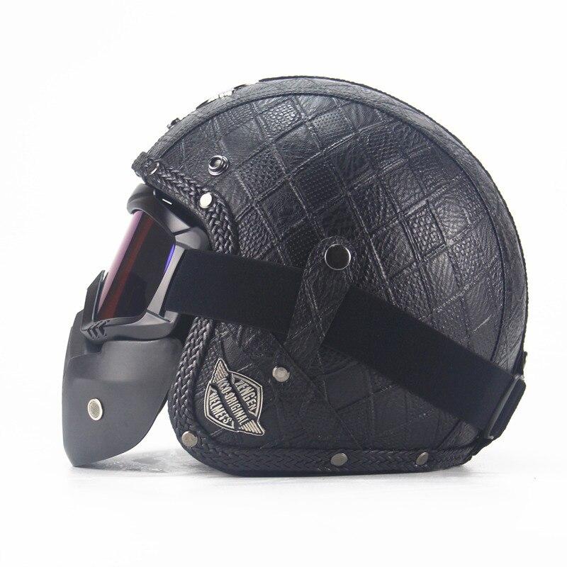 Motocrosshjälm Mask Avtagbar glasögon och munfilter Perfekt för - Motorcykel tillbehör och delar - Foto 5