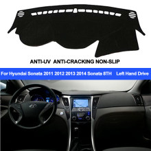 TAIJS Dashboard Cover Hyundai Sonata 2011 2012 2013 2014 Sonata 8 Dash Mat Dashboard Pad Tapijt Uv Anti-slip(China)