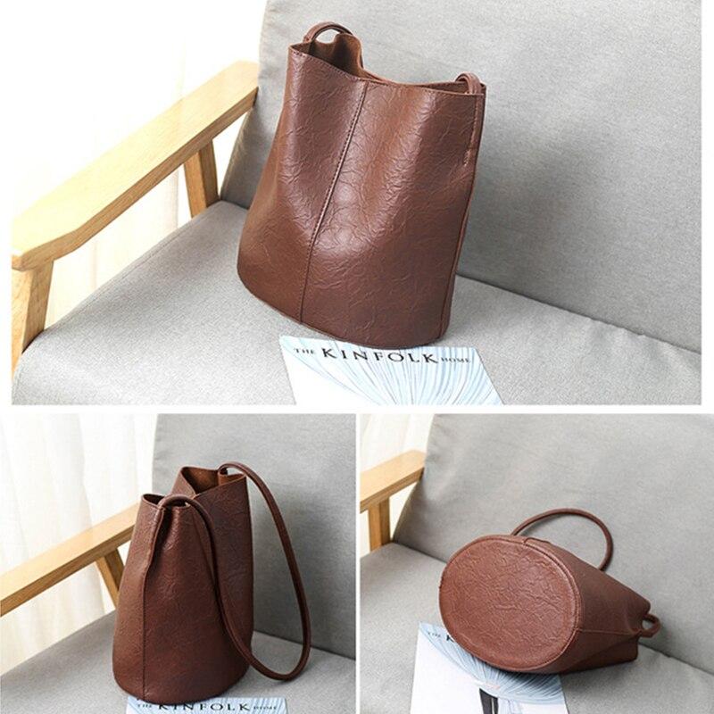 Women\'S Handbag PU Leather Cross Body Bag Bucket Bags Over Shoulder G2130