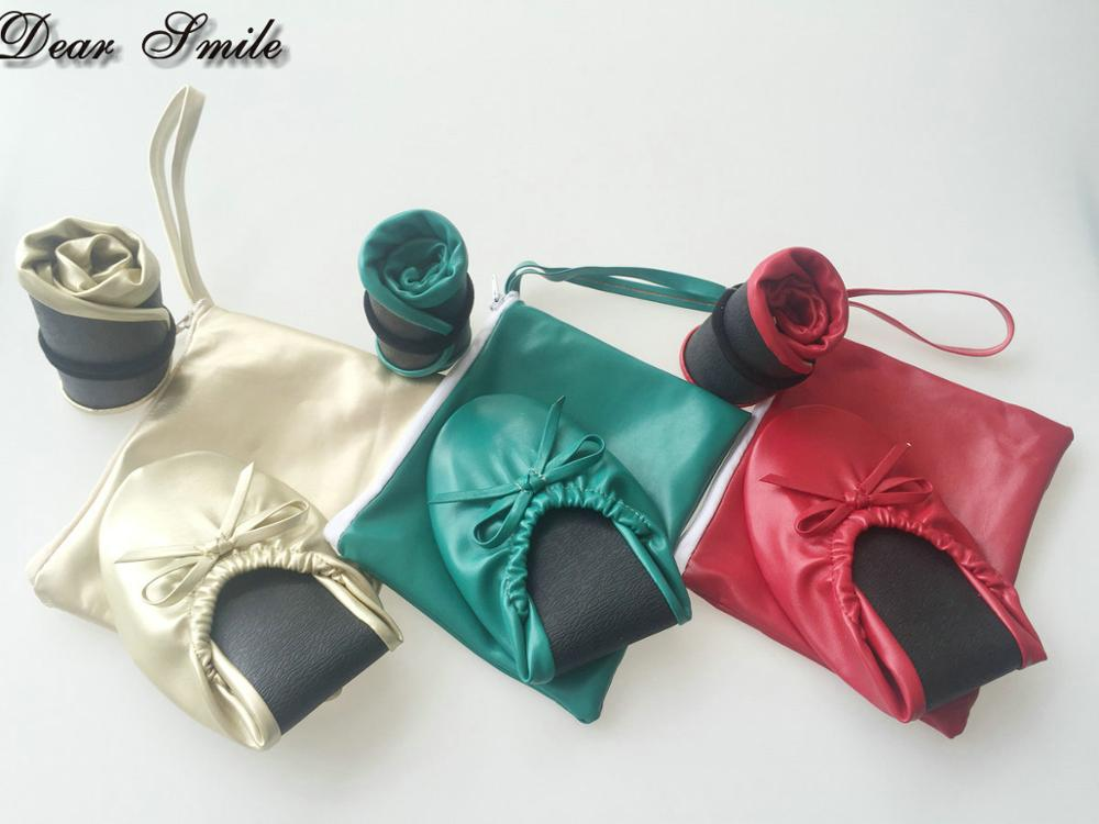 Schuhe Verschiffen Frauen Ballerina Beliebte Match Großhandel Faltbare Verschiedene Freies Farben SzqOxwtO