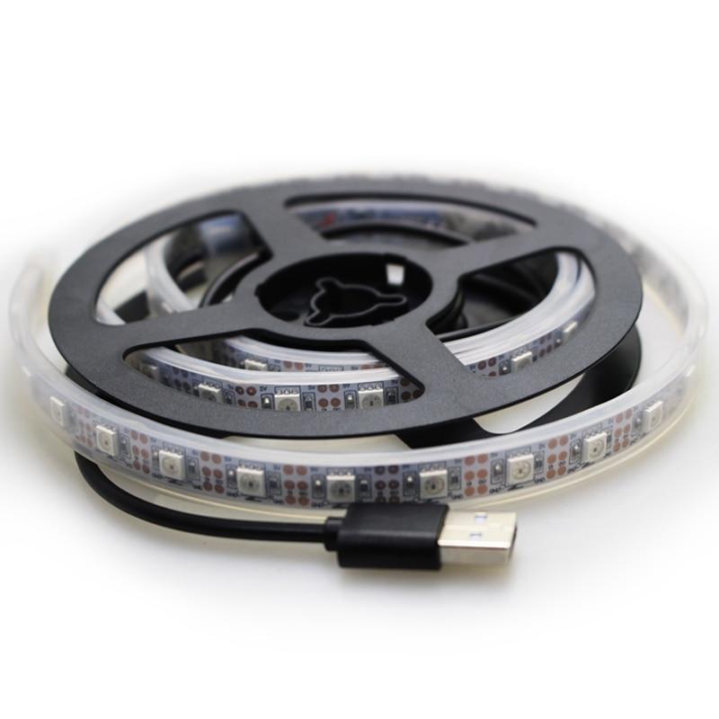 1 M IP67 tube wodoodporna taśma led USB Światła 60 leds DC 5v 5050 - Oświetlenie LED - Zdjęcie 3