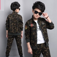 Male Child Clothing Autumn Set Camouflage Cotton 100 2017 Sports Sets Child Spring Boy Long Sleeve