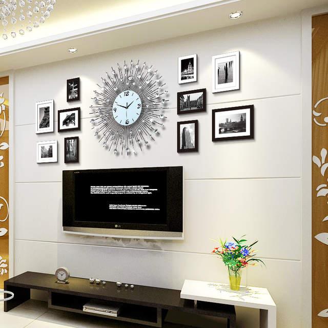 Articoli Etnici artigianato decorazioni in stile Europeo foto orologio da  parete soggiorno innotime moderno e minimalista moda foto muro muto orologio