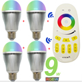 9W RGBW RGBWW Led Bulb E27 Lamp Mi Light Dimmable Umbrella 220V AC86-265V + 2.4G RF Wireless Touch Screen Remote Controller
