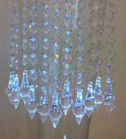 Free Shipping 100M Hanging Crystal Acrylic Beads Garland With Hook Wedding Party Supplies Out Chrismas Tree Decoration