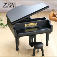 New Black Wood Piano Music Box Home Decoration Creative Gifts For Princess Love Girl Valentine S