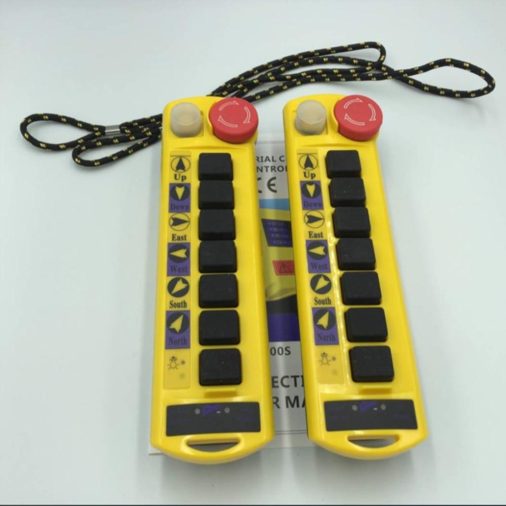 2 スピード 2 トランスミッタ制御ホイストクレーンラジオリモートコントロールプッシュボタンスイッチシステムコントローラ停止  グループ上の ライト & 照明 からの スイッチ の中 2