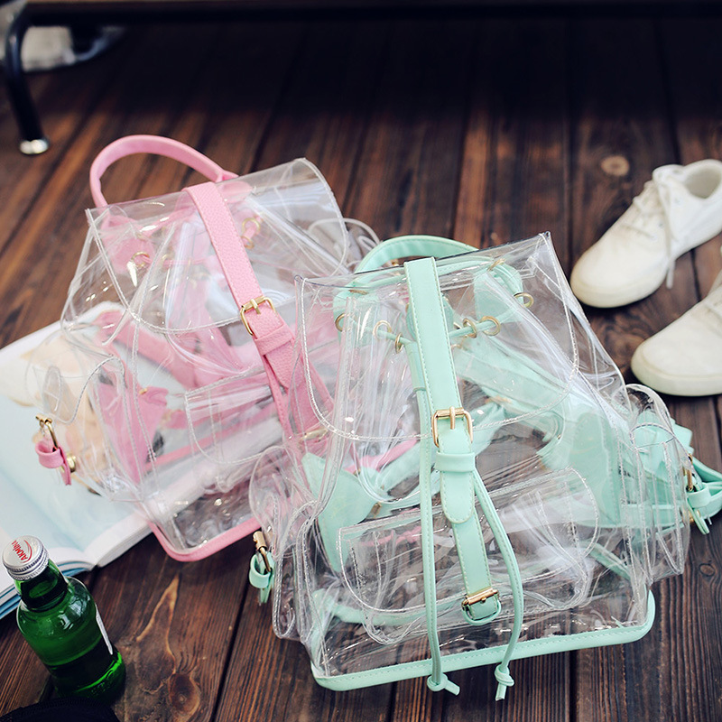 2017 New Hot Fashion Women Female Lovely Transparent Jelly Bag Casual Cute Pink Green Mini Handbags Shoulder Bags Messenger Bag 2017 hot sales female fashion women cute messenger bags rivet shoulder bag leather crossbod new brand a8