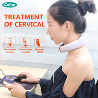Cofoe Household Cervical Vertebra BT JZ Cervical Spondylosis Massager Neck Pain Traction Physiotherapy Health Device 2017 Newest