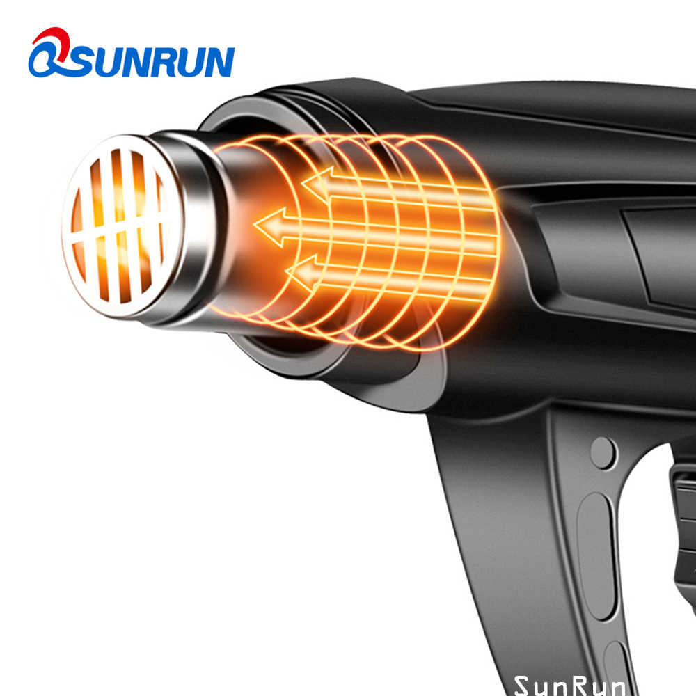 Max 2500W heteluchtpistool industriële plastic lastoorts wind haasten machine bakken pistool krimpkous föhn FA film pistool