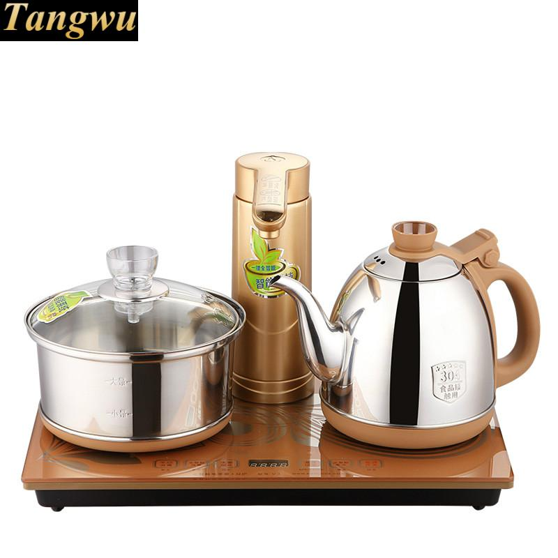 Full intelligent tea furnace automatic pumping water set electric kettle stove free shipping automatic water supply electric kettle tea set pumping furnace