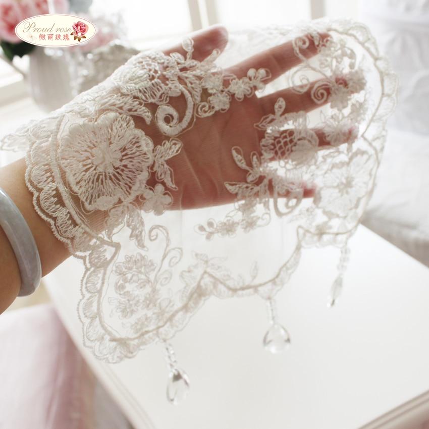 גאה רוז קוריאנית נסיכה תחרה מפת שולחן שקוף תליון שולחן ראנר לבן רקום שולחן ראנר לחתונה
